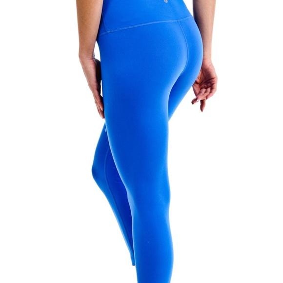 378eba9273bab 90 Degree By Reflex Pants - 90 degree reflex cropped blue workout leggings